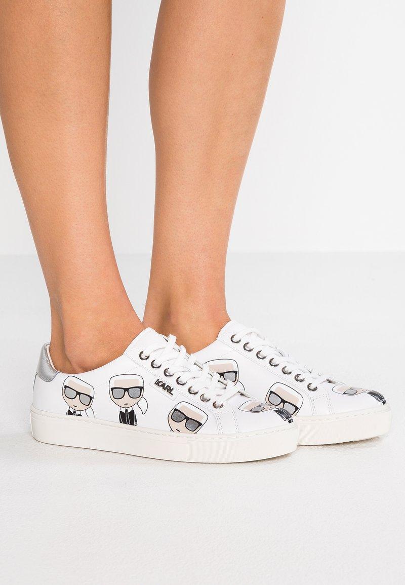 KARL LAGERFELD - KUPSOLE MULTIKONIC LACE - Sneaker low - white