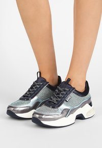 KARL LAGERFELD - LAZARE LACE MIX - Trainers - navy mix - 0