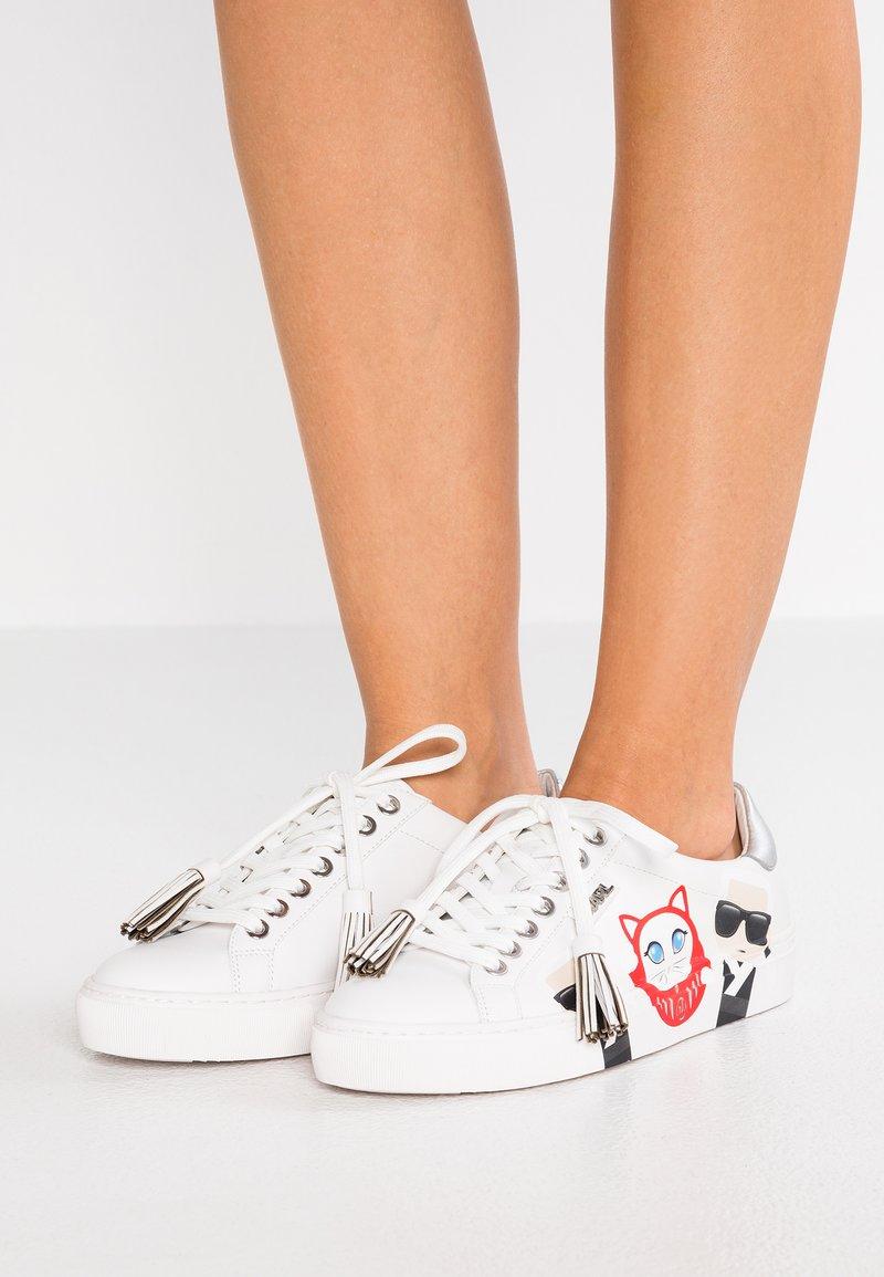 KARL LAGERFELD - KUPSOLE IN TOKYO - Sneakersy niskie - white
