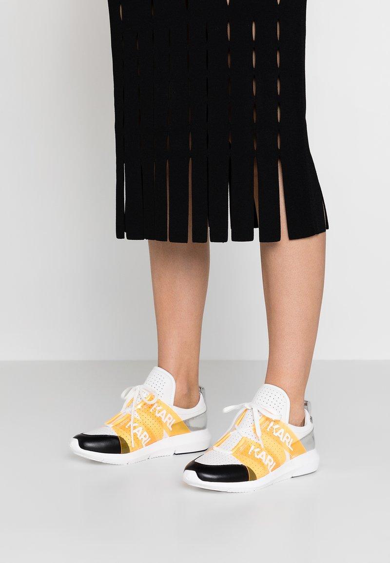 KARL LAGERFELD - VITESSE LEGERE - Sneakers - white/orange