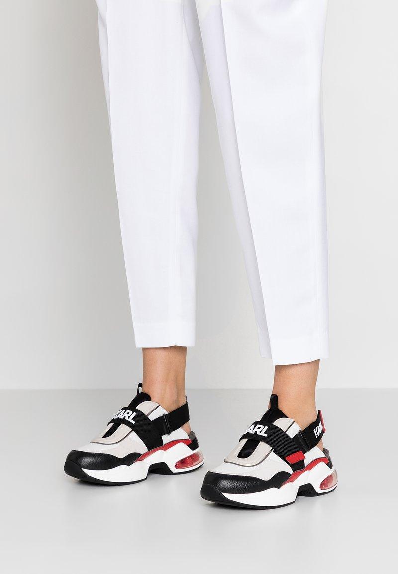 KARL LAGERFELD - SHUTTLE SLINGBACK - Sneaker low - white