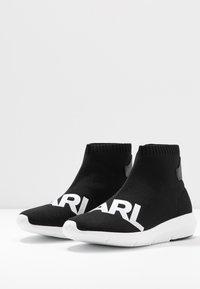 KARL LAGERFELD - VITESSE LEGERE  - Baskets montantes - black/white - 4