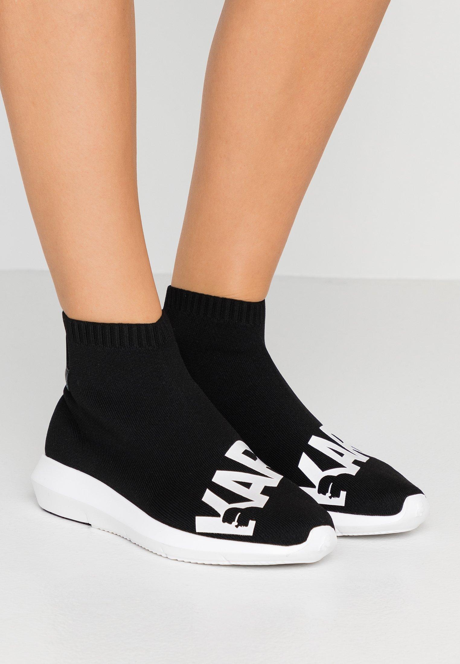 KARL LAGERFELD VITESSE LEGERE  - Slippers - black/white