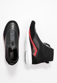 KARL LAGERFELD - VITESSE NEO SOCK ZIP  - High-top trainers - black - 3