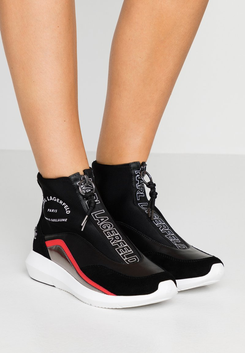 KARL LAGERFELD - VITESSE NEO SOCK ZIP  - Sneakers high - black