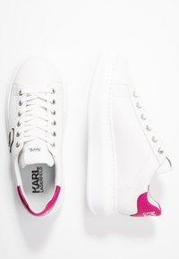 KARL LAGERFELD - KAPRI IKONIC LACE - Sneakersy niskie - white/pink - 3