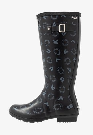 KALOSH PRINT RAIN BOOT - Bottes en caoutchouc - black/light grey
