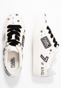 KARL LAGERFELD - SKOOL JEWEL BADGE - Sneakersy niskie - white/silver - 3