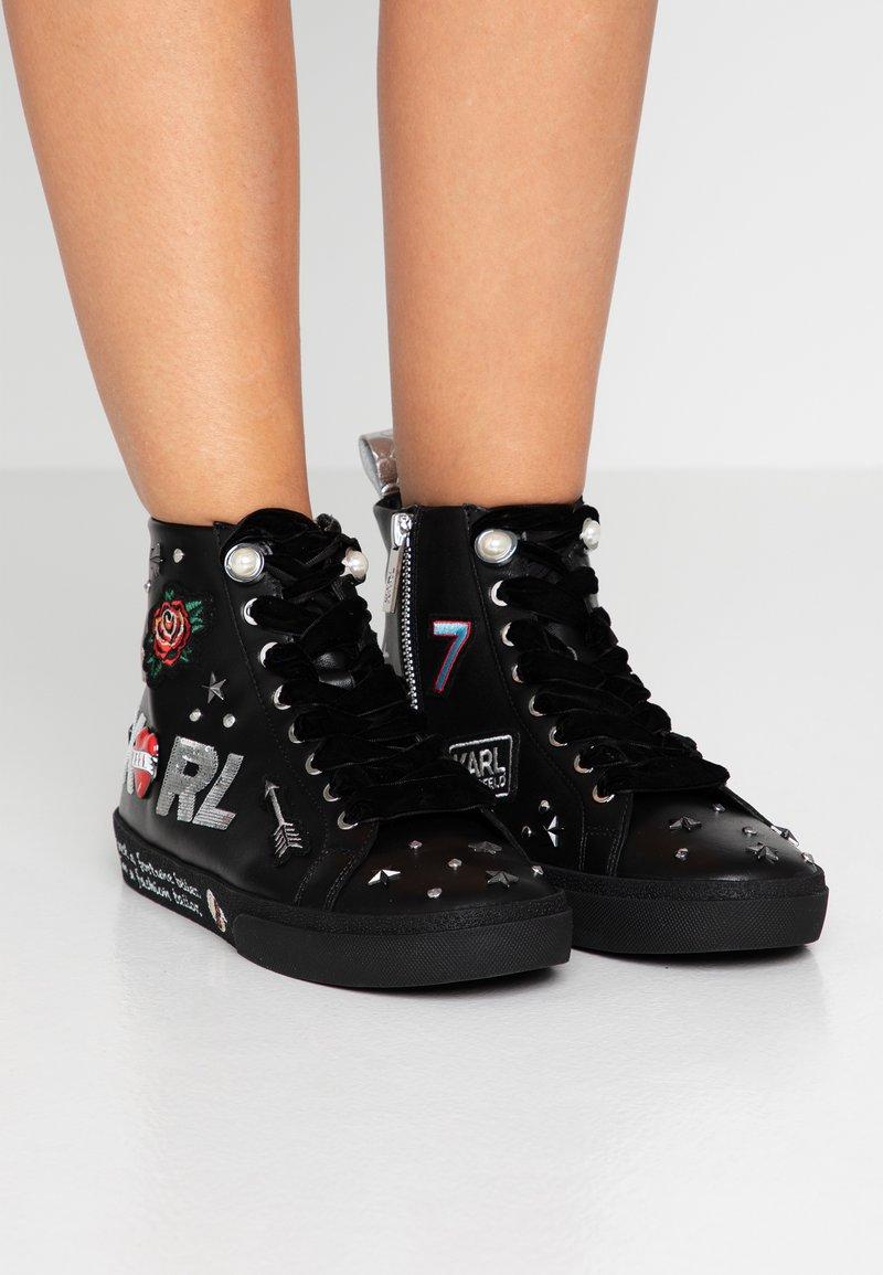 KARL LAGERFELD - SKOOL JEWEL BADGE  - Sneakers high - black/silver