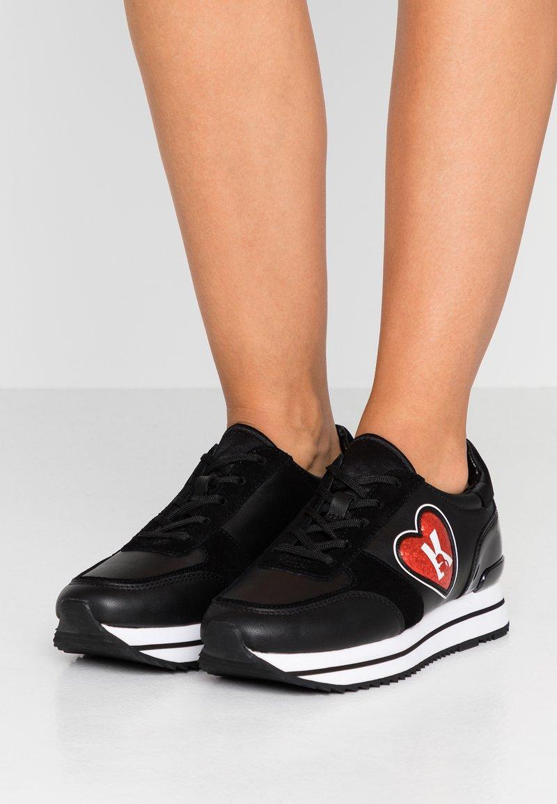 KARL LAGERFELD - VELOCITA K-LOVE - Trainers - black/red