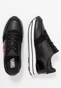 KARL LAGERFELD - VELOCITA K-LOVE - Sneakersy niskie - black/red - 3