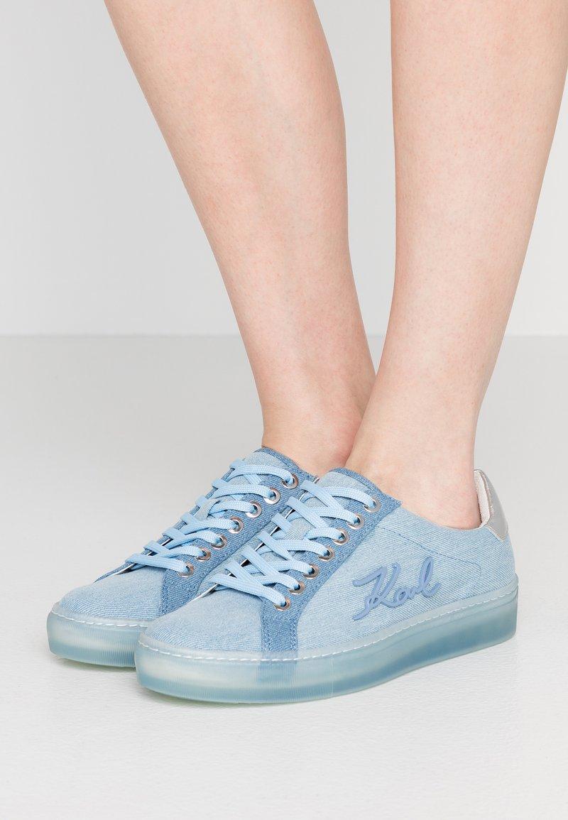 KARL LAGERFELD - KUPSOLE SIGNIA LACE - Sneaker low - light blue