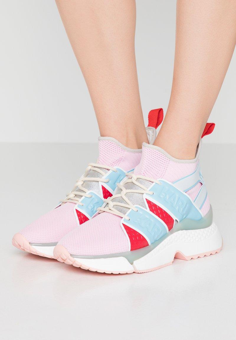 KARL LAGERFELD - AVENTUR STRAP  - Sneaker high - pink