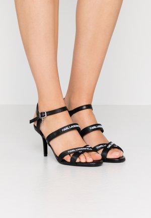 SARABANDE STRAP  - Sandały na obcasie - black