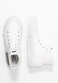 KARL LAGERFELD - KAMPUS IKONIC LACE - Baskets montantes - white - 3