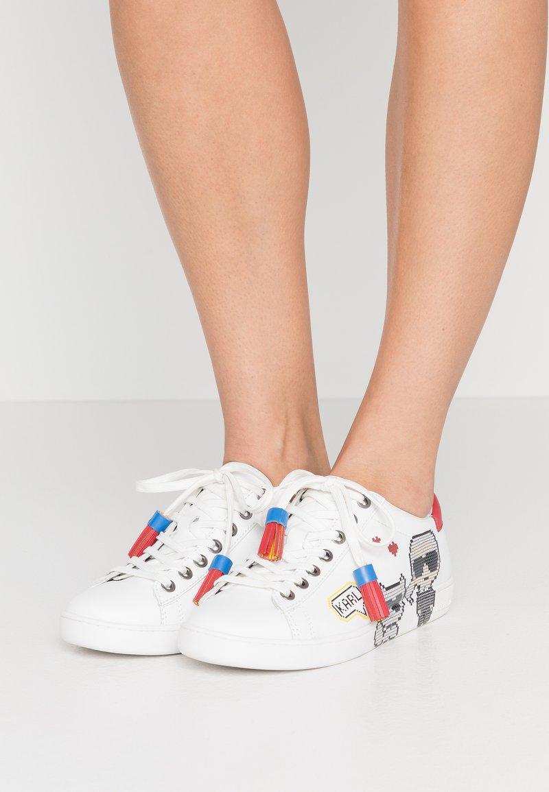 KARL LAGERFELD - KUPSOLE II PIXEL PAIR LACE - Sneakers laag - white