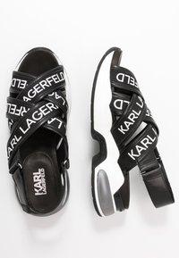 KARL LAGERFELD - MUTLI-STRAP SLING - Korkeakorkoiset sandaalit - black - 3