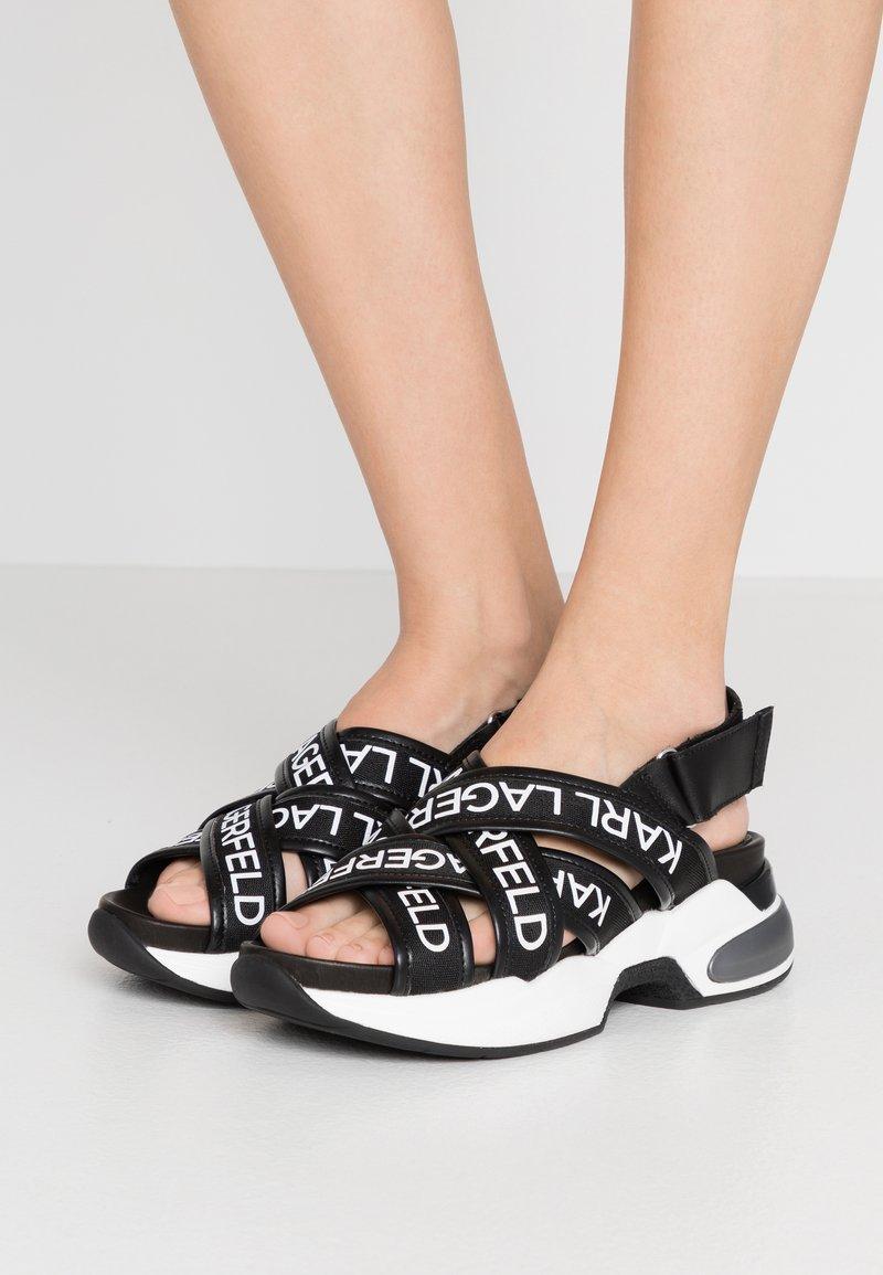 KARL LAGERFELD - MUTLI-STRAP SLING - Korkeakorkoiset sandaalit - black