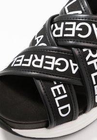 KARL LAGERFELD - MUTLI-STRAP SLING - Korkeakorkoiset sandaalit - black - 2