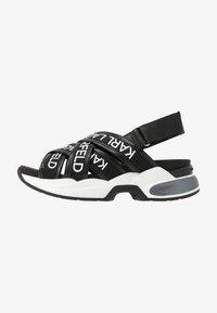 KARL LAGERFELD - MUTLI-STRAP SLING - Korkeakorkoiset sandaalit - black - 1