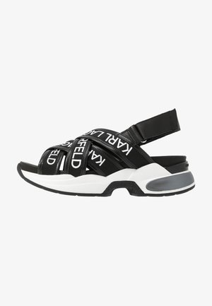 MUTLI-STRAP SLING - Sandalen met plateauzool - black
