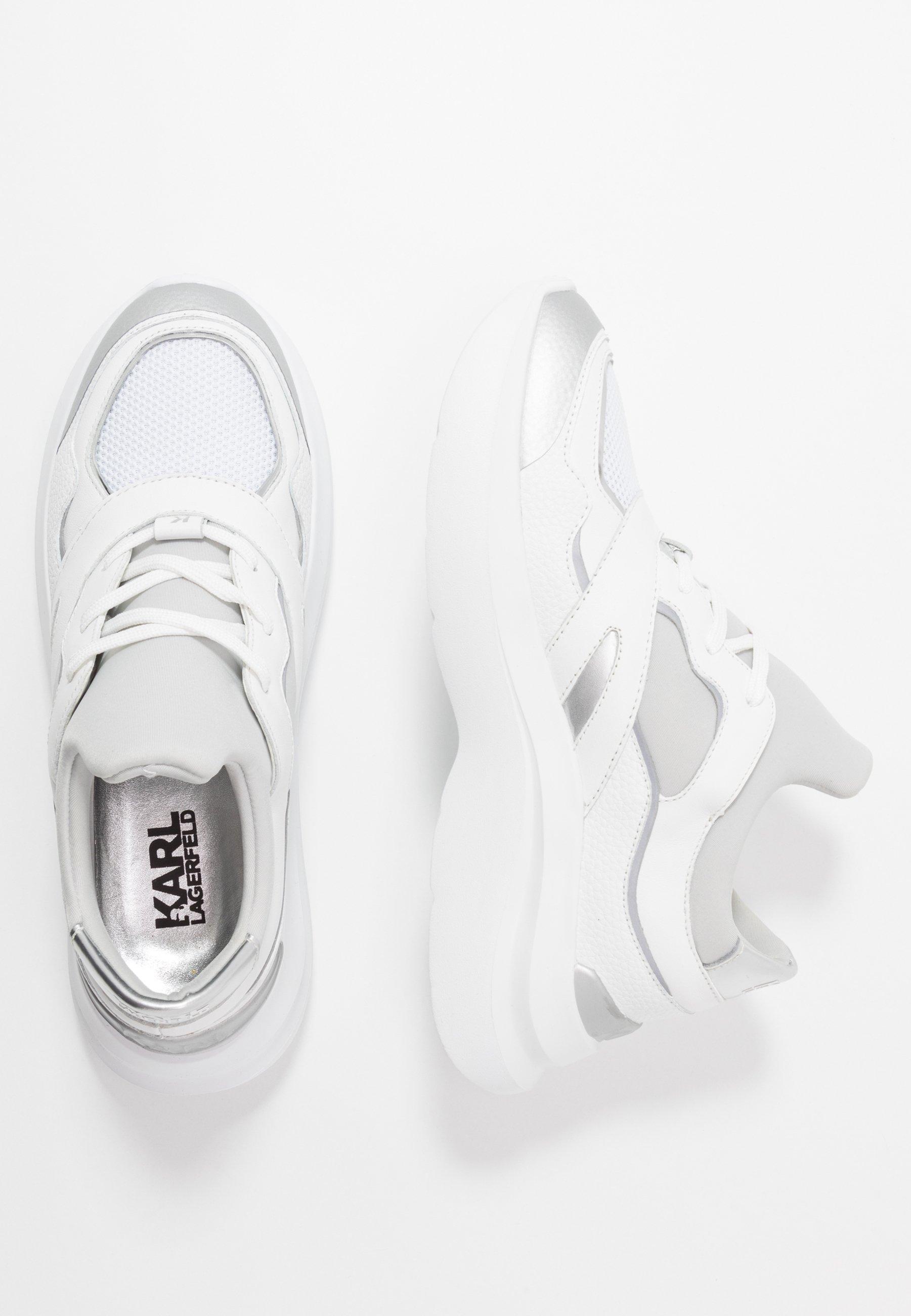 Karl Lagerfeld Skyline Delta Lace Mix - Sneakers Laag White/silver Goedkope Schoenen
