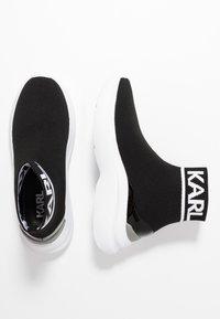 KARL LAGERFELD - SKYLINE ANKLE PULL ON - Vysoké tenisky - black/white - 3