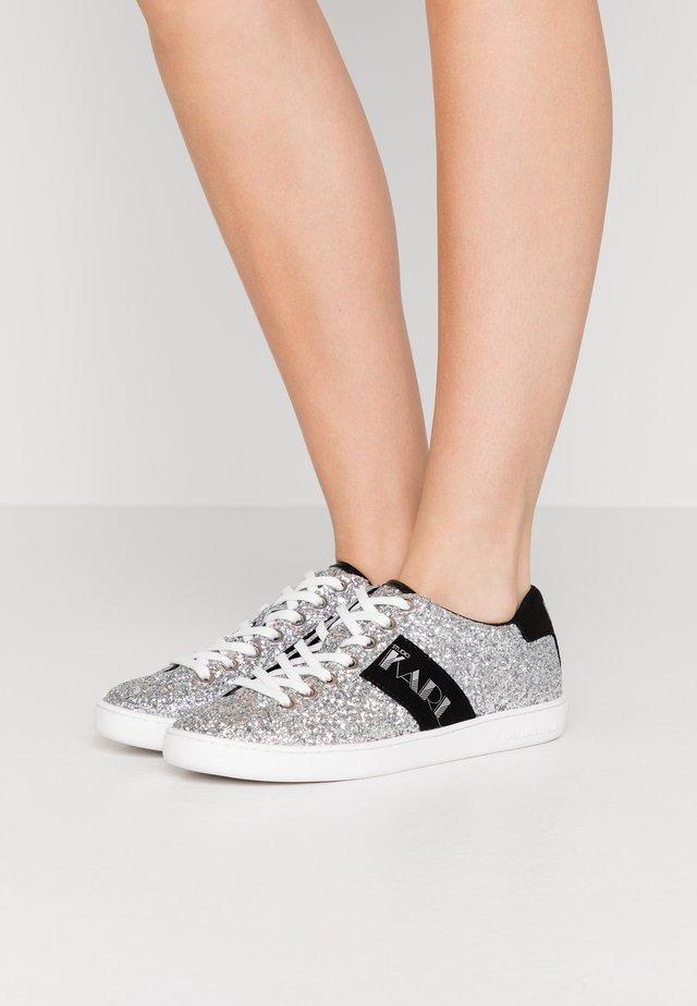 KUPSOLE DISCO LACE - Sneaker low - glitter silver