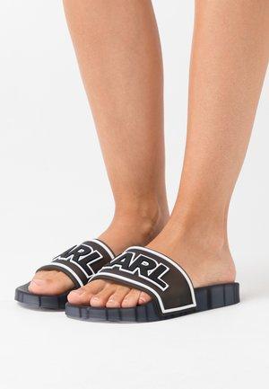 KONDO BAND SLIDE - Sandály do bazénu - black