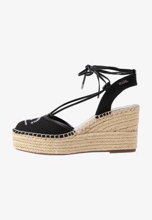 KAMINI MID MAISON SLINGBACK - Sandály na vysokém podpatku - black