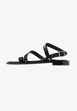 SARABANDE FLAT STRAP  - Sandales - black