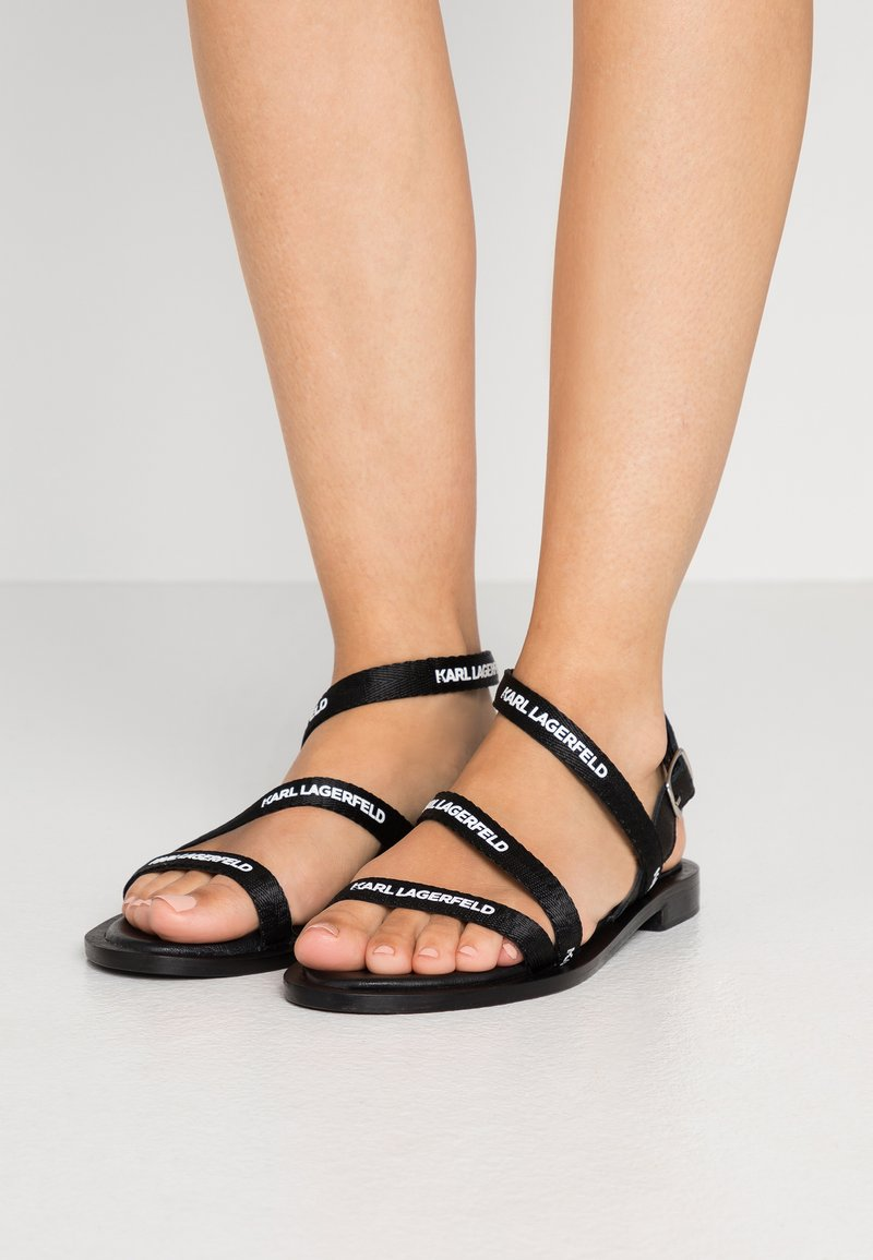 KARL LAGERFELD - SARABANDE FLAT STRAP  - Sandals - black