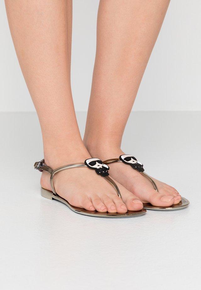 JELLY IKONIC SLING - T-bar sandals - dark metal