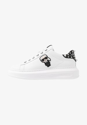 KAPRI IKONIC STUD TAB - Baskets basses - white/black