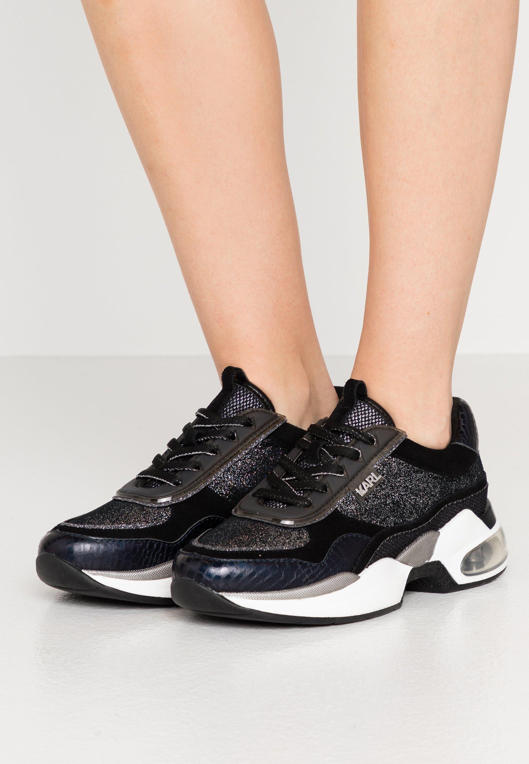LAZARE GLITZ MIX Sneakers blacksilver
