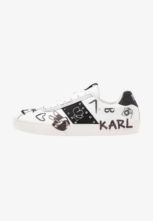 SKOOL BANDANA LACE - Baskets basses - white/black