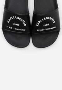 KARL LAGERFELD - KONDO II MAISON SLIDE - Pantofle - black - 6