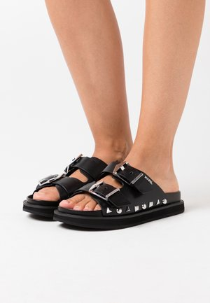 MEDINA BUCKLE TWO STRAP - Mules - black