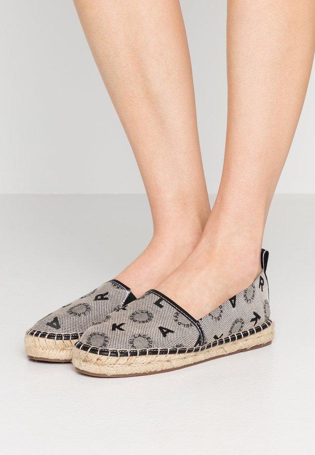 KAMINI JACQUARD SLIP ON - Espadrille - light grey/black