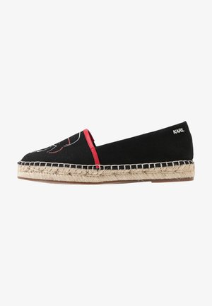 KAMINI OUTLINE SLIP ON - Espadrilles - black