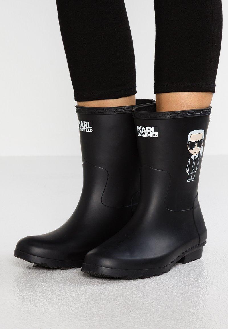 KARL LAGERFELD - KALOSH IKONIC RAIN BOOT - Gummistøvler - black