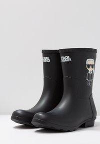 KARL LAGERFELD - KALOSH IKONIC RAIN BOOT - Stivali di gomma - black - 4