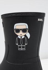 KARL LAGERFELD - KALOSH IKONIC RAIN BOOT - Stivali di gomma - black - 2