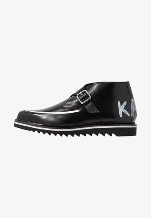 BUCKLE SHOE MID - Ankle boots - black
