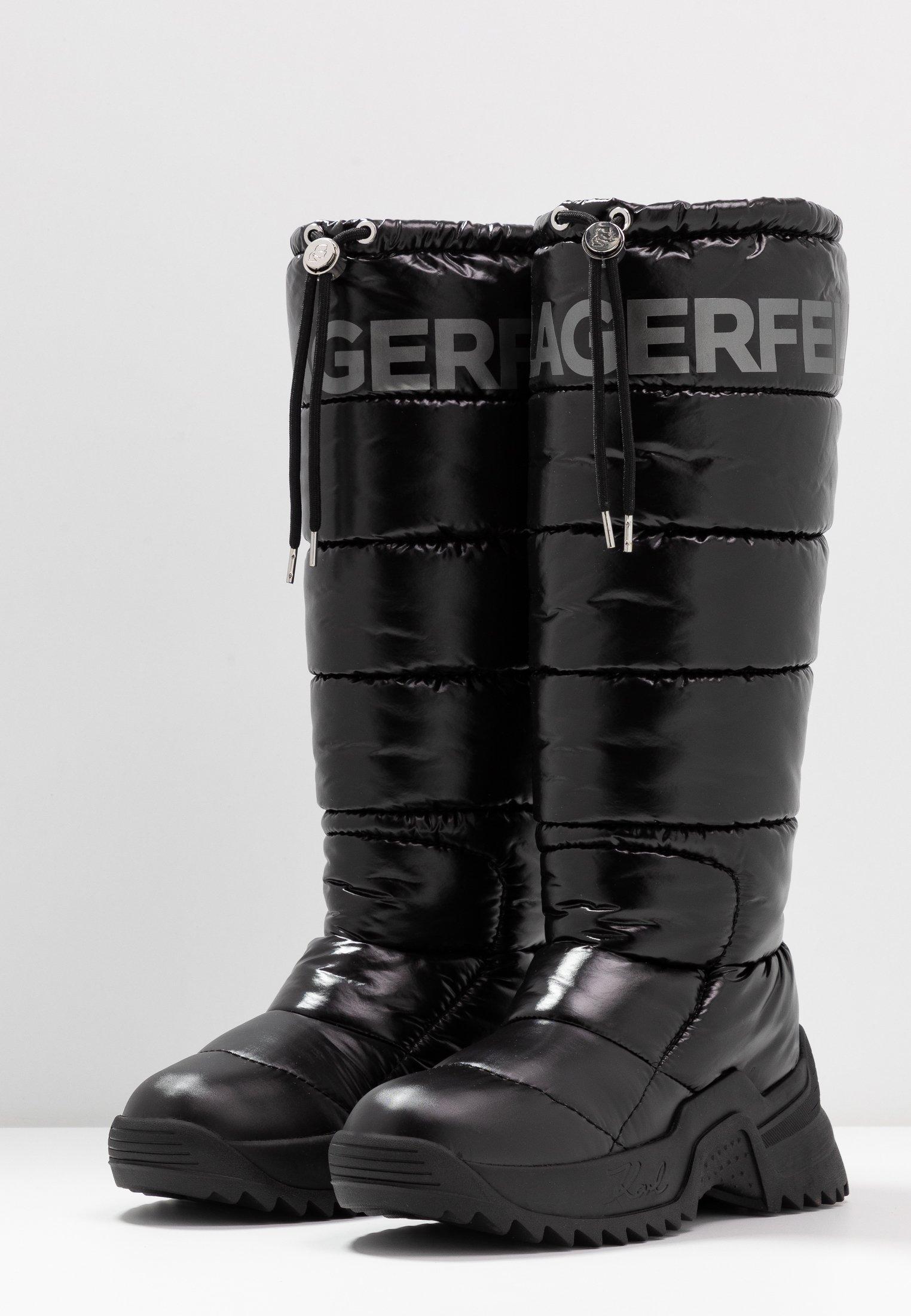 KARL LAGERFELD QUEST BOOT - Śniegowce - black