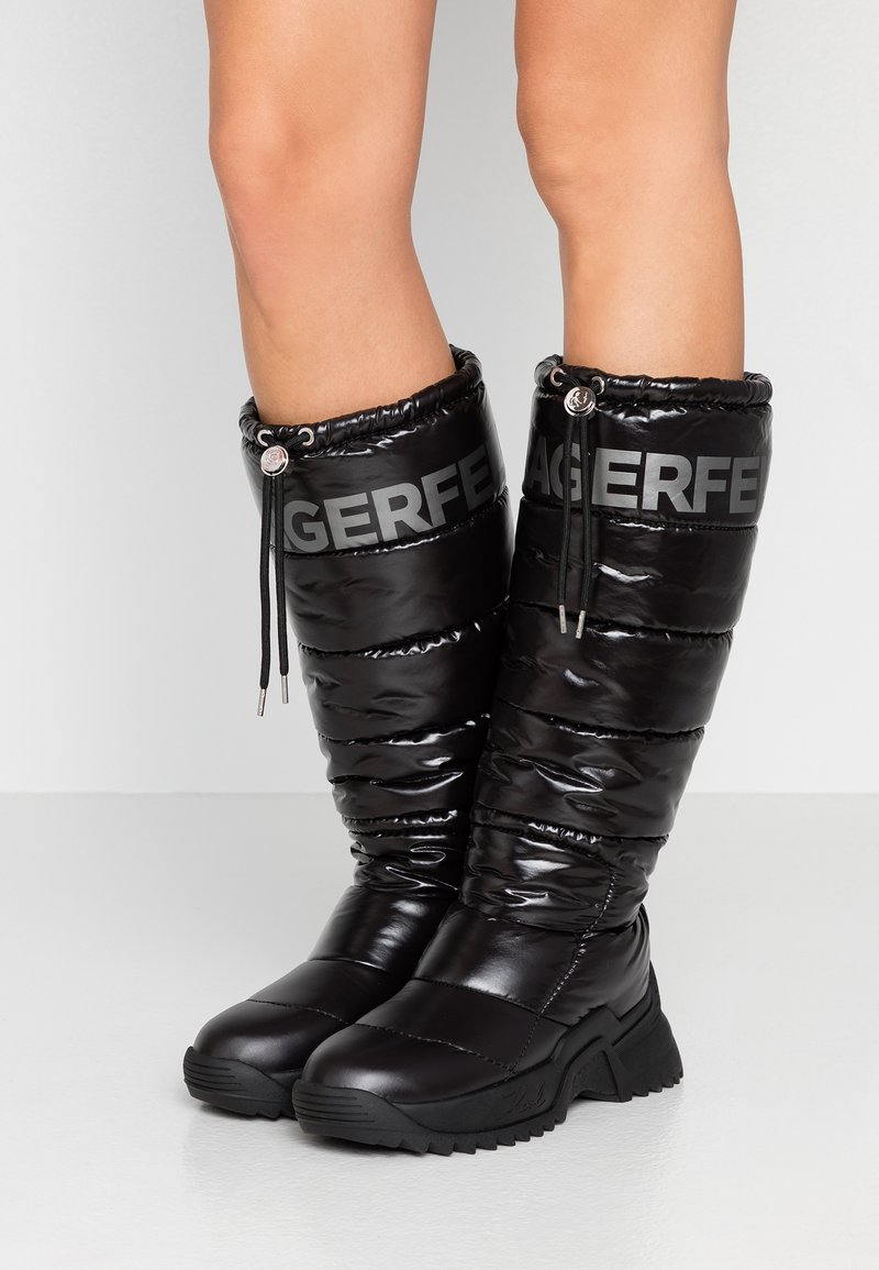 KARL LAGERFELD - QUEST BOOT - Vinterstøvler - black
