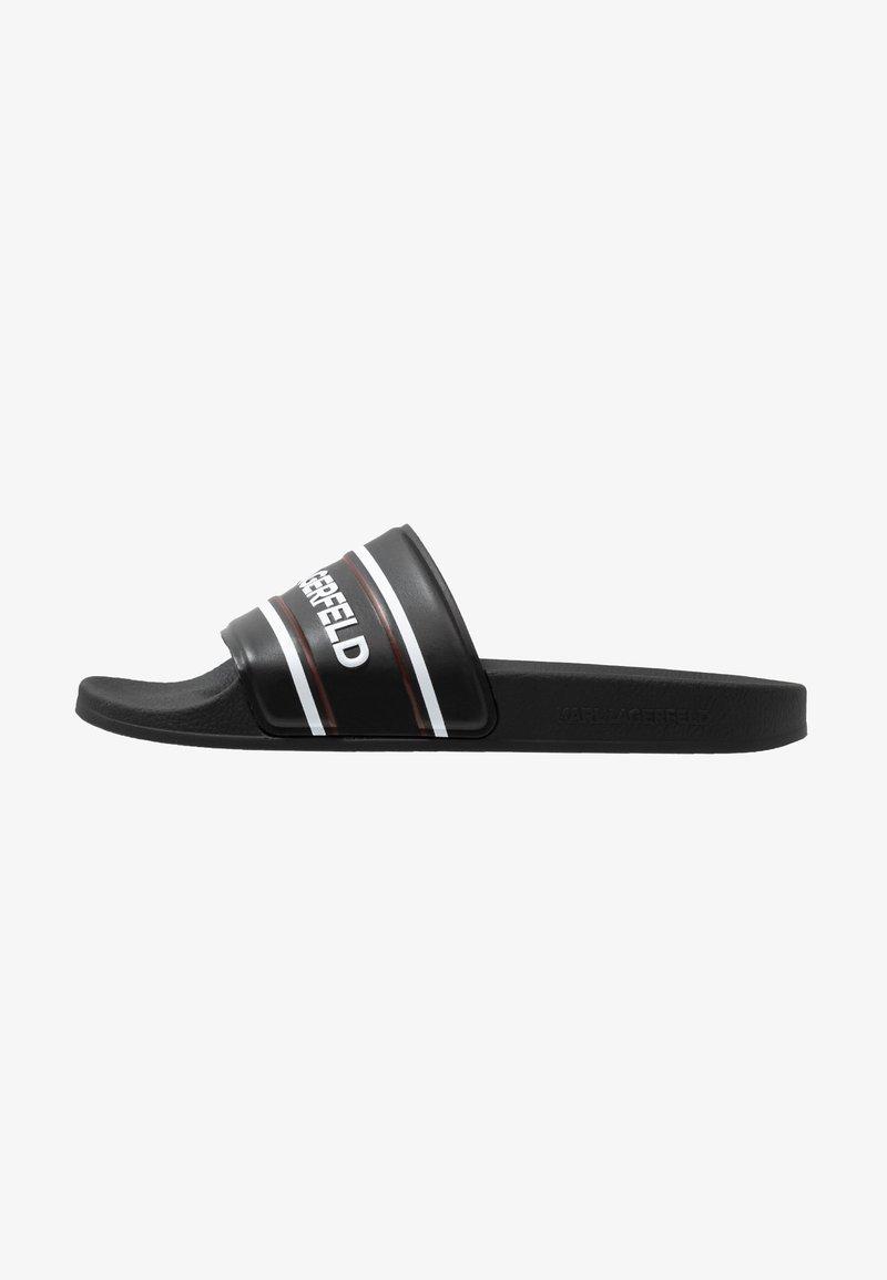 KARL LAGERFELD - KONDO KONTRAST SLIDE - Pantolette flach - black/white