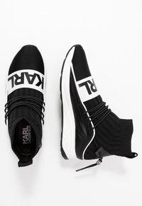 KARL LAGERFELD - VEKTOR BAND SOCK - Sneakers hoog - black/white - 1