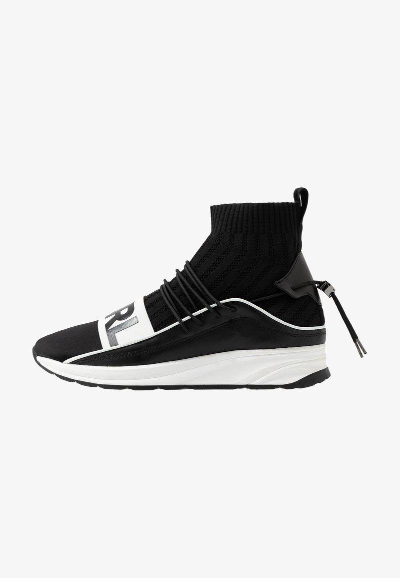 KARL LAGERFELD - VEKTOR BAND SOCK - Sneakers hoog - black/white
