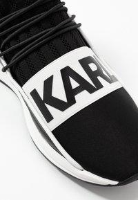 KARL LAGERFELD - VEKTOR BAND SOCK - Sneakers hoog - black/white - 5